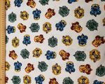 Harry Potter Gryffindor Hufflepuff Ravenclaw Slytherin - Fabric - Price Per Metre